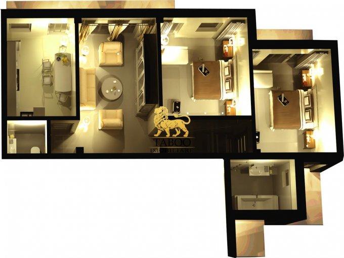 Apartament vanzare Sibiu 3 camere, suprafata utila 61 mp, 2 grupuri sanitare. 44.000 euro. La Parter / 3. Apartament Calea Cisnadiei Sibiu