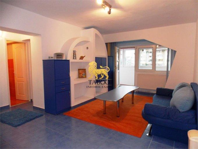 Apartament inchiriere Sibiu 3 camere, suprafata utila 90 mp, 2 grupuri sanitare. 300 euro. Etajul 2 / 8. Apartament Gara Sibiu