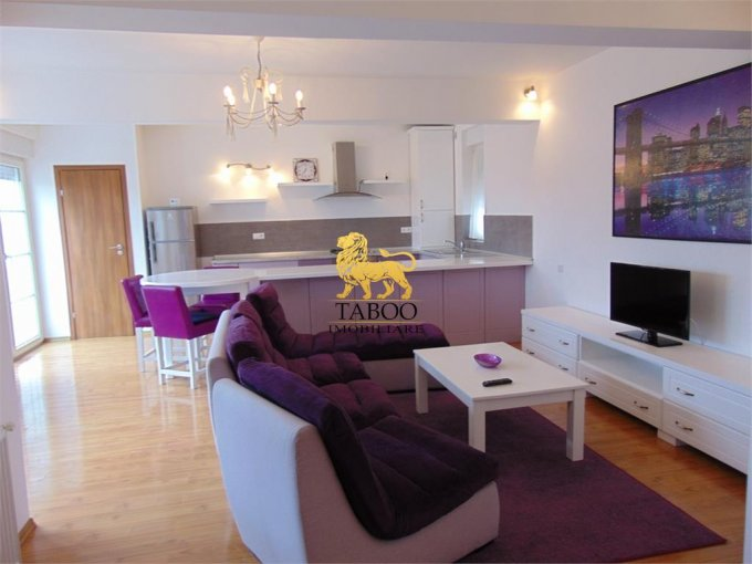 Apartament inchiriere Sibiu 3 camere, suprafata utila 104 mp, 2 grupuri sanitare. 550 euro. Etajul 1 / 2. Apartament Calea Dumbravii Sibiu