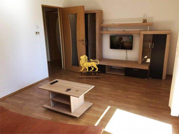 Apartament inchiriere Sibiu 3 camere, suprafata utila 75 mp, 2 grupuri sanitare. 300 euro. Etajul 2 / 4. Apartament Turnisor Sibiu