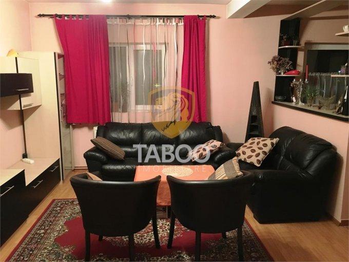 Apartament de vanzare in Sibiu cu 3 camere, cu 2 grupuri sanitare, suprafata utila 75 mp. Pret: 38.000 euro.