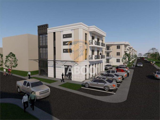 Apartament de vanzare in Sibiu cu 3 camere, cu 2 grupuri sanitare, suprafata utila 84 mp. Pret: 76.500 euro.
