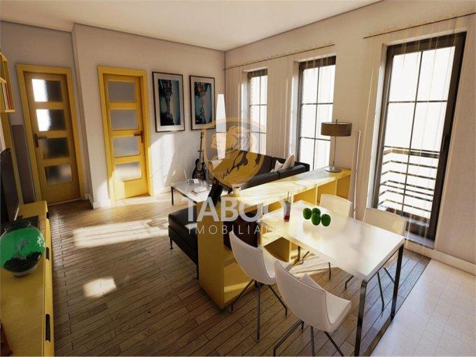 Apartament de vanzare in Sibiu cu 3 camere, cu 1 grup sanitar, suprafata utila 61 mp. Pret: 55.900 euro.