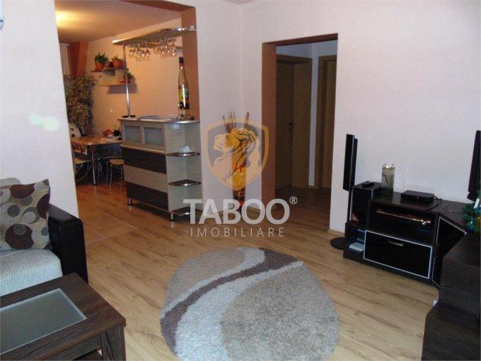 Apartament de vanzare in Sibiu cu 3 camere, cu 2 grupuri sanitare, suprafata utila 76 mp. Pret: 76.000 euro.