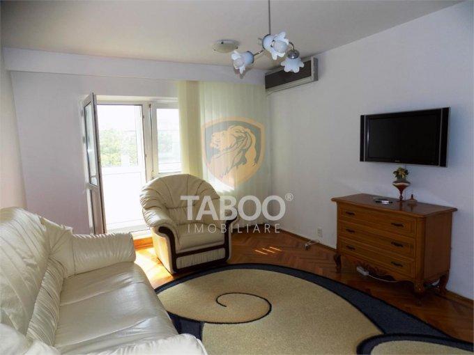 Apartament de inchiriat direct de la agentie imobiliara, in Sibiu, in zona Strand, cu 400 euro. 2 grupuri sanitare, suprafata utila 70 mp.