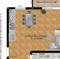 vanzare apartament cu 3 camere, decomandata, in zona Calea Dumbravii, orasul Sibiu