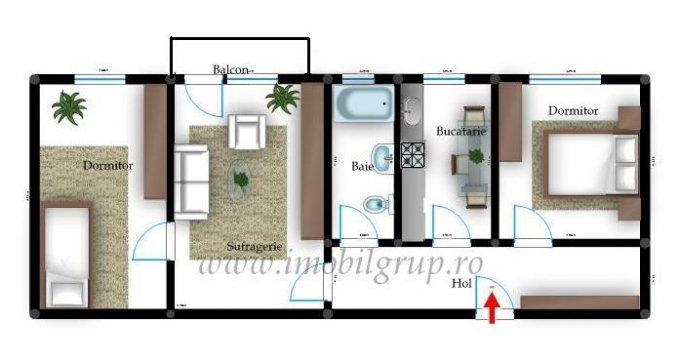 vanzare apartament nedecomandata, zona Hipodrom 3, orasul Sibiu, suprafata utila 47 mp