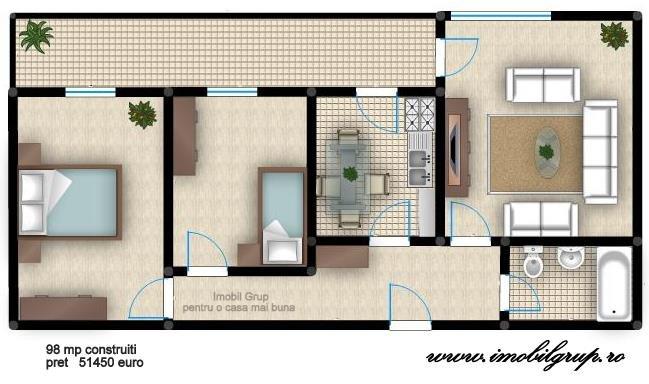 vanzare apartament decomandata, comuna Selimbar, suprafata utila 80 mp