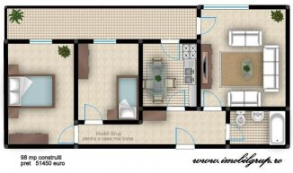 vanzare apartament decomandat, comuna Selimbar, suprafata utila 80 mp