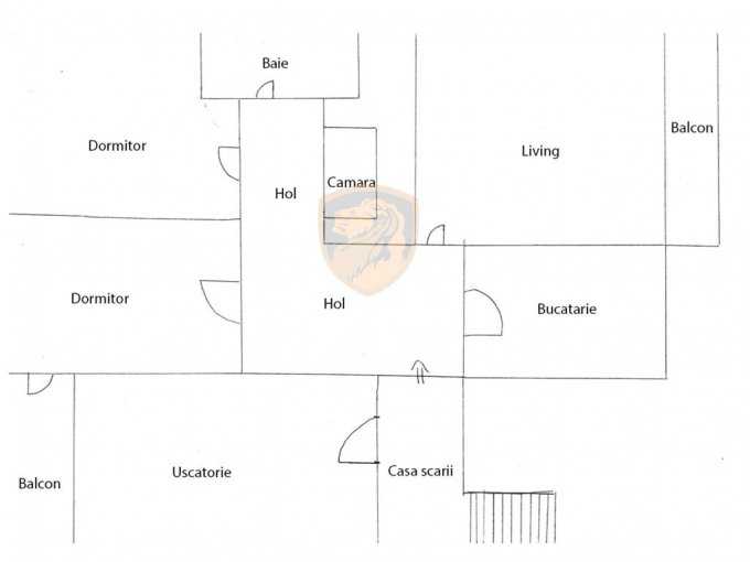 Apartament vanzare Vasile Aaron cu 4 camere, etajul 4 / 4, 1 grup sanitar, cu suprafata de 90 mp. Sibiu, zona Vasile Aaron.