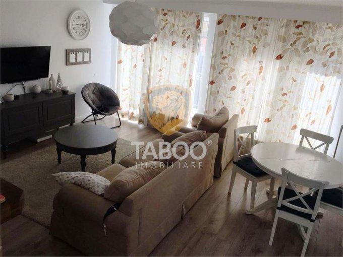 Apartament de vanzare in Sibiu cu 4 camere, cu 2 grupuri sanitare, suprafata utila 81 mp. Pret: 130.000 euro.