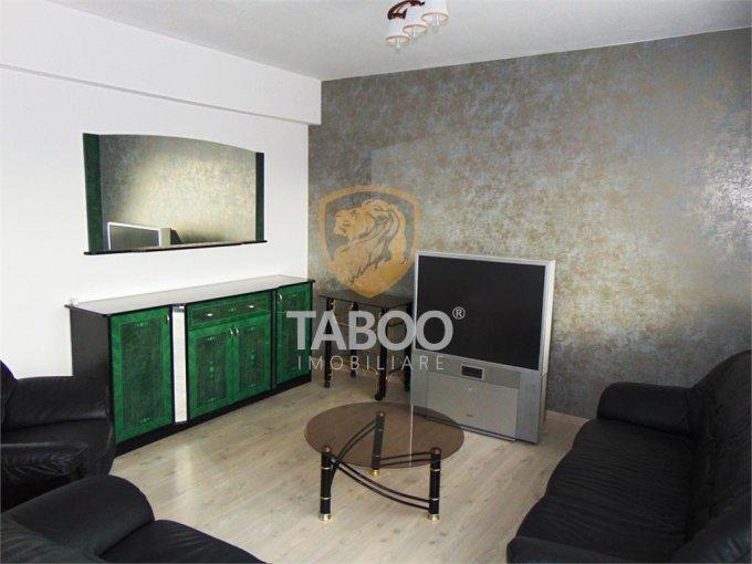 Apartament de inchiriat in Sibiu cu 5 camere, cu 2 grupuri sanitare, suprafata utila 135 mp. Pret: 450 euro.