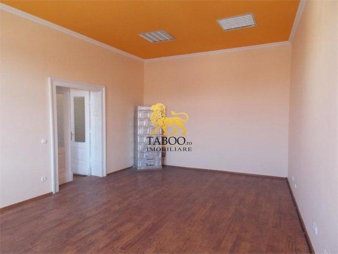 inchiriere birou cu 4 camere, 1 grup sanitar, suprafata de 120 mp. In orasul Sibiu.