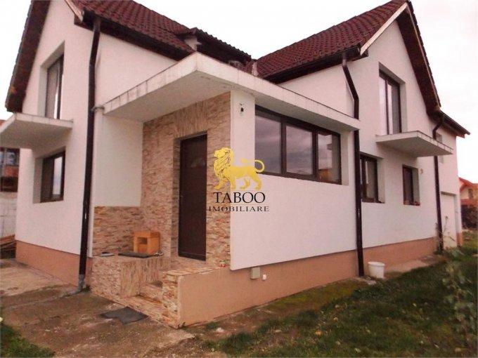 Casa de vanzare in Sibiu cu 3 camere, cu 2 grupuri sanitare, suprafata utila 170 mp. Suprafata terenului 750 metri patrati, deschidere 30 metri. Pret: 134.000 euro. Casa