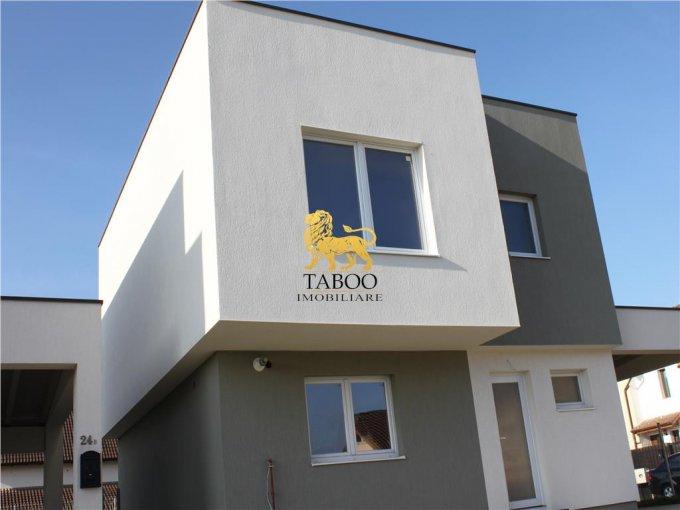 Calea Cisnadiei Sibiu casa cu 3 camere, 2 grupuri sanitare, cu suprafata utila de 98 mp, suprafata teren 170 mp si deschidere de 10 metri. In orasul Sibiu Calea Cisnadiei.