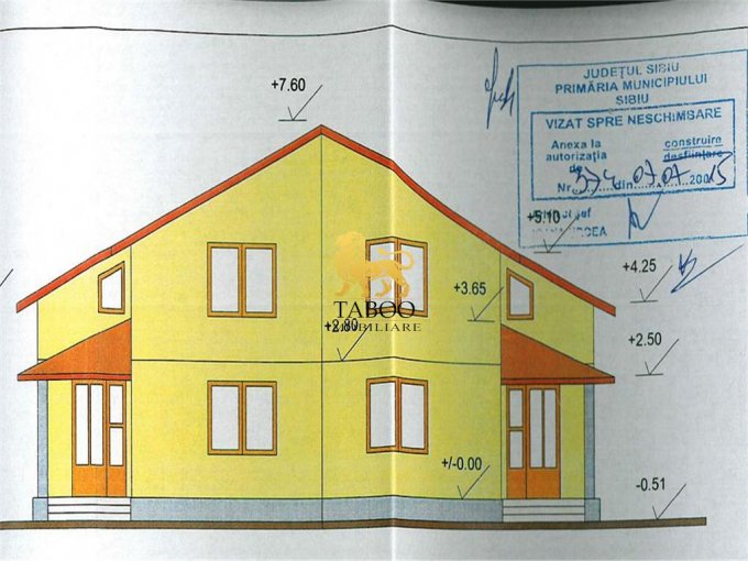 vanzare Casa Sibiu cu 4 camere, cu suprafata utila de 120 mp, 2 grupuri sanitare. 69.000 euro.. Casa vanzare Piata Cluj Sibiu