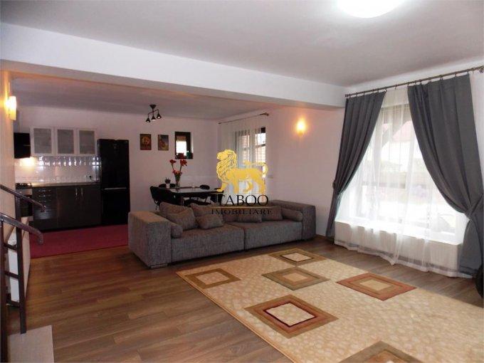 Casa de inchiriat in Sibiu cu 4 camere, cu 2 grupuri sanitare, suprafata utila 120 mp. Suprafata terenului 260 metri patrati, deschidere 15 metri. Pret: 650 euro. Casa