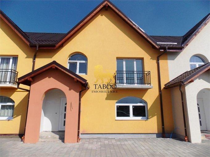 Casa de vanzare in Sibiu cu 4 camere, cu 2 grupuri sanitare, suprafata utila 116 mp. Suprafata terenului 120 metri patrati, deschidere 8 metri. Pret: 65.000 euro. Casa