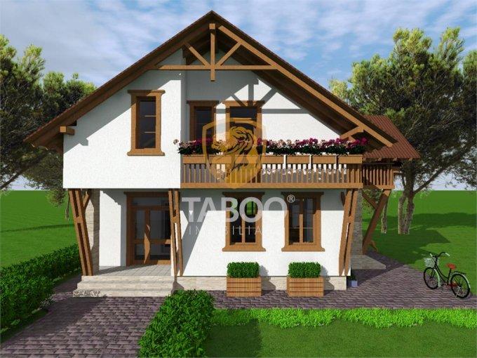 Selimbar Sibiu casa cu 4 camere, 2 grupuri sanitare, cu suprafata utila de 159 mp, suprafata teren 563 mp si deschidere de 18 metri. In orasul Sibiu Selimbar.
