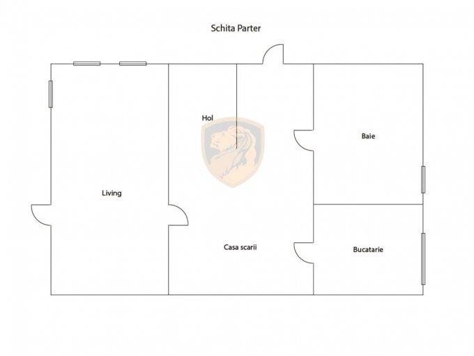 Casa de vanzare in Sibiu cu 4 camere, cu 1 grup sanitar, suprafata utila 140 mp. Suprafata terenului 760 metri patrati, deschidere 14 metri. Pret: 160.000 euro. Casa