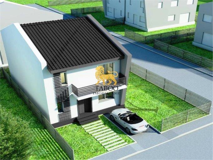 Casa de vanzare in Sibiu cu 5 camere, cu 3 grupuri sanitare, suprafata utila 156 mp. Suprafata terenului 200 metri patrati, deschidere 10 metri. Pret: 69.500 euro. Casa