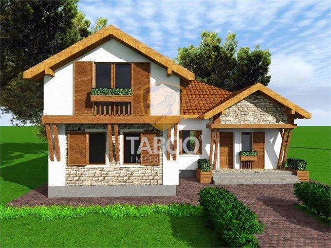 Selimbar Sibiu casa cu 5 camere, 2 grupuri sanitare, cu suprafata utila de 129 mp, suprafata teren 500 mp si deschidere de 21 metri. In orasul Sibiu Selimbar.