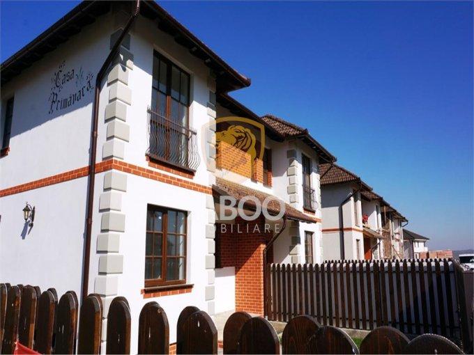 Casa de vanzare in Sibiu cu 5 camere, cu 3 grupuri sanitare, suprafata utila 119 mp. Suprafata terenului 300 metri patrati, deschidere 12 metri. Pret: 99.500 euro. Casa