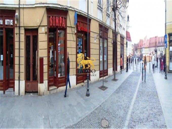 de vanzare spatiu comercial cu 4 incaperi, 2 grupuri sanitare, suprafata de 80 mp. In orasul Sibiu. 90.000 euro.