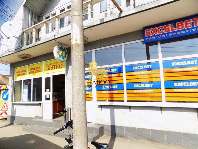 de inchiriat spatiu comercial cu 4 incaperi, 1 grup sanitar, suprafata de 120 mp. In orasul Sibiu, zona Compa. 1.450 euro.