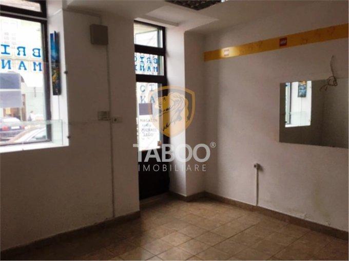 Orasul de Jos Sibiu Spatiu comercial de inchiriat cu 1 incapere, cu 1 grup sanitar, suprafata 20 mp. Pret: 450 euro.