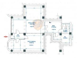 inchiriere Spatiu comercial 125 mp cu 3 incaperi, 2 grupuri sanitare, orasul Sibiu