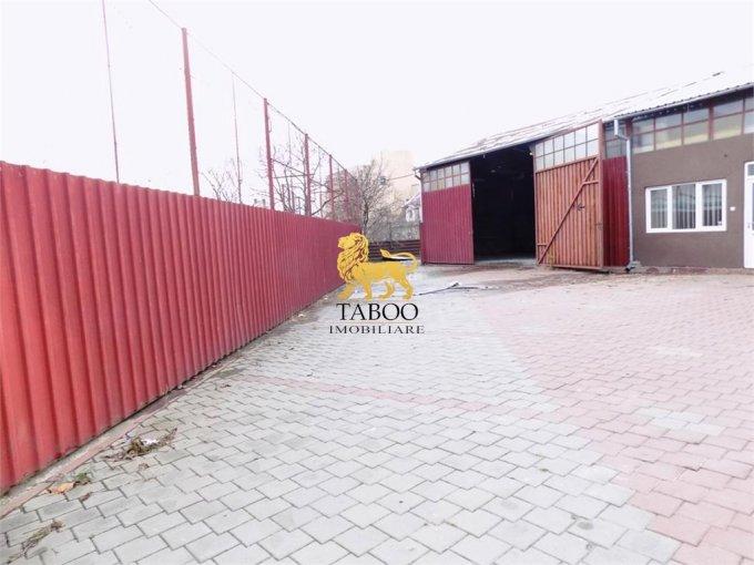 Sibiu Spatiu industrial de inchiriat cu 2 incaperi, cu 1 grup sanitar, suprafata 250 mp. Pret: 650 euro.