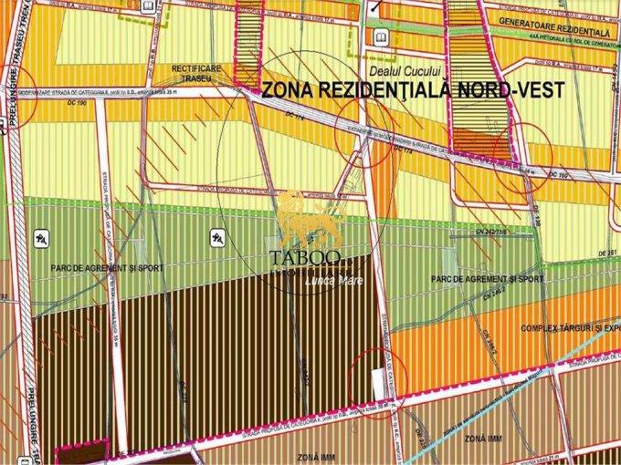 Teren intravilan de vanzare direct de la agentie imobiliara, in Sibiu, cu 189.000 euro. Suprafata de teren 18900 metri patrati cu deschidere de 270 metri.