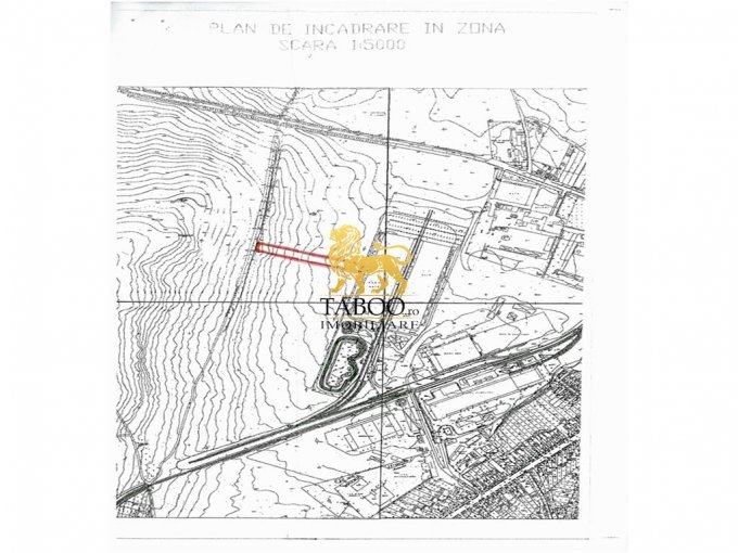 Teren intravilan de vanzare in Sibiu, zona Turnisor. Suprafata terenului 4620 metri patrati, deschidere 20 metri. Pret: 92.400 euro.