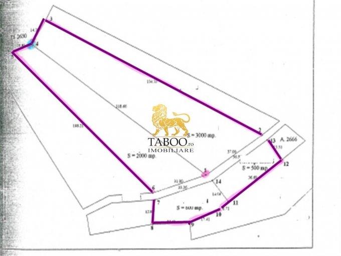 Teren intravilan de vanzare direct de la agentie imobiliara, in Cisnadioara, cu 73.200 euro. Suprafata de teren 6100 metri patrati cu deschidere de 68 metri.
