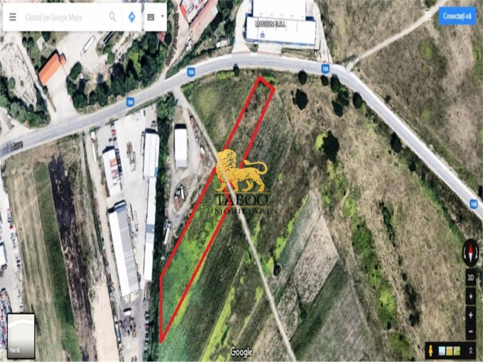 Teren intravilan de vanzare in Sibiu, zona Broscarie. Suprafata terenului 6000 metri patrati, deschidere 20 metri. Pret: 44.000 euro.