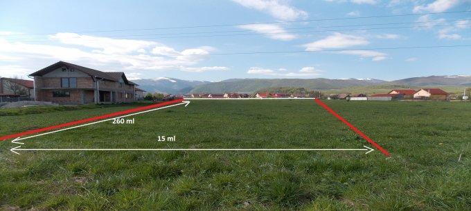 de vanzare teren intravilan cu suprafata de 3550 mp si deschidere de 15 metri. In comuna Orlat. Utilitati: Gaze, Curent electric 220V, Curent electric 380V, Apa, Canalizare.