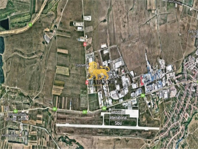 Teren intravilan de vanzare in Sibiu. Suprafata terenului 4000 metri patrati, deschidere 12 metri. Pret: 104.000 euro.