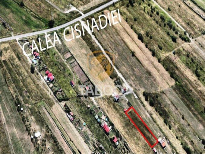 Calea Cisnadiei Teren intravilan vanzare 1288 mp, deschidere 73 metri. Pret: 35.000 euro. agentie imobiliara vand teren intravilan