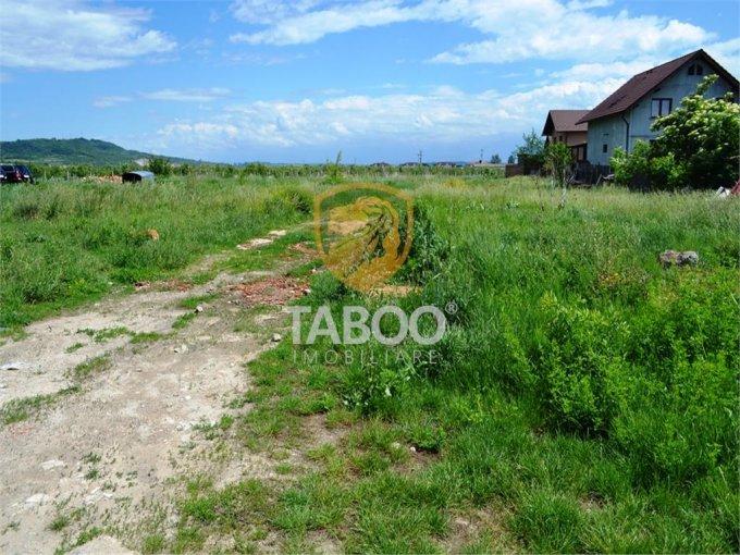 Teren intravilan de vanzare in Sibiu, zona Terezian. Suprafata terenului 1270 metri patrati, deschidere 145 metri. Pret: 127.000 euro.