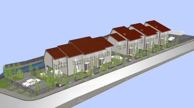 Vila de vanzare cu 4 camere, cu 1 grup sanitar, suprafata utila 140 mp. Suprafata terenului 190 metri patrati, deschidere 15 metri. Pret: 70.000 euro. Vila