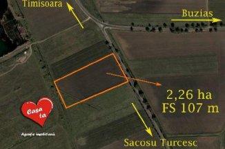 vanzare teren extravilan agricol de la agentie imobiliara cu suprafata de 22600 mp, comuna Sacosu Turcesc