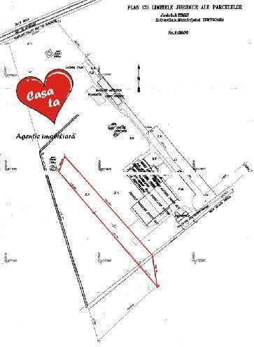 Teren intravilan de vanzare in Timisoara, zona Freidorf. Suprafata terenului 10000 metri patrati, deschidere 35 metri. Pret: 500.000 euro.