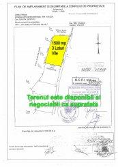 proprietar vand teren intravilan in suprafata de 1500 metri patrati, amplasat in zona Spitalul Judetean, orasul Ramnicu Valcea