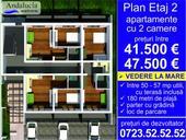 de vanzare apartament cu 2 camere semidecomandat,  confort 1 in constanta